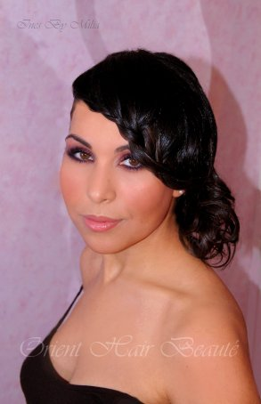 Maquillage coiffure Nancy Ajram