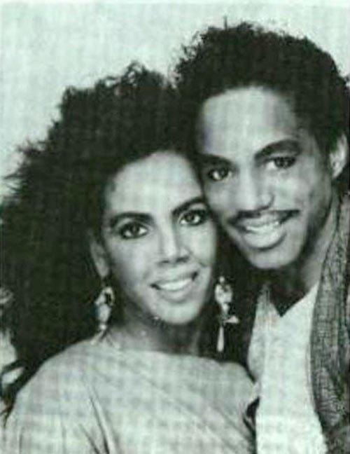 Marlon Jackson with smuk, Kone Carol Parker
