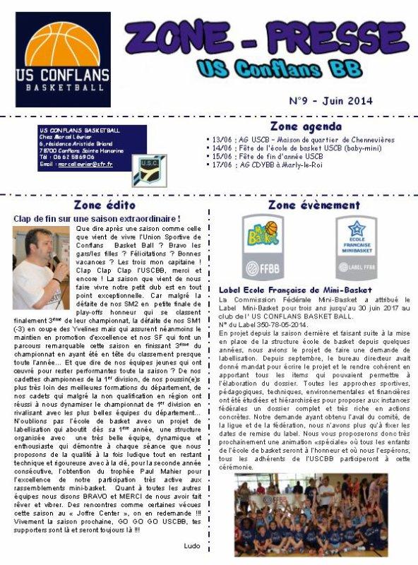 ZONE-PRESSE N�9 - JUIN 2014