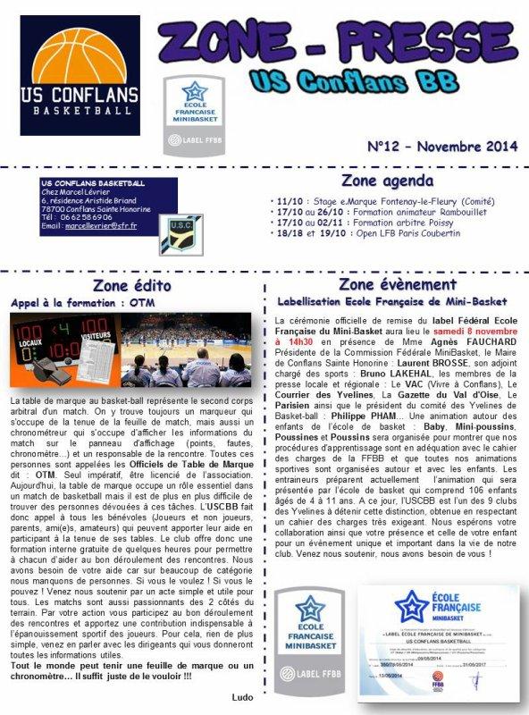 ZONE-PRESSE N�12 - D�CEMBRE 2014