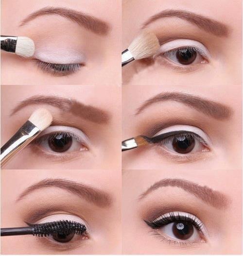 maquillage simple blanc et cuivre