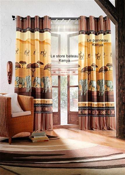 mes double rideaux pour la nouvelle salle manger esprit afrique. Black Bedroom Furniture Sets. Home Design Ideas