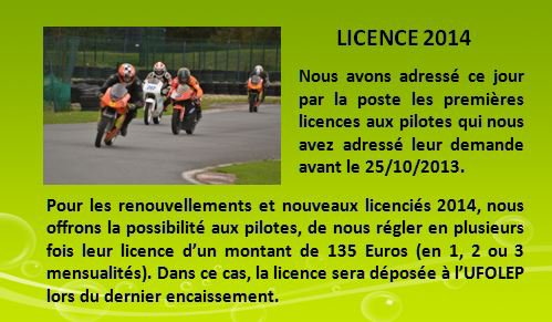 INFOS LICENCE 2014