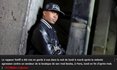 Paris : le rappeur Rohff en garde � vue apr�s l'agression dans la boutique de Booba