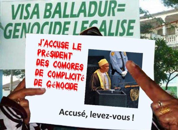 J'accuse les autorités des Comores de complicité de génocide