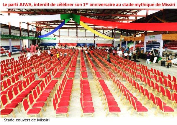 Les Comores interdisent la c�l�bration du 1er anniversaire du parti JUWA au stade de Missiri