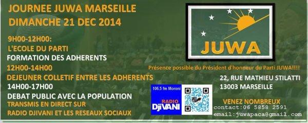 Programme de la journ�e JUWA � Marseille le 21/12/2014