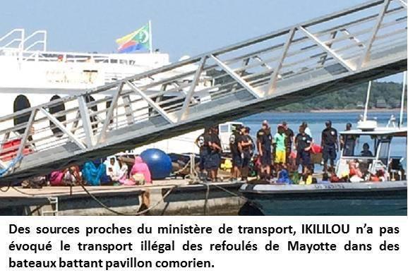 Comores : IKILILOU interpelle la ministre des transports.