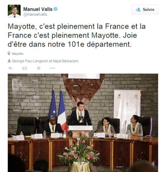 Monsieur Valls, juste une petite question sur Mayotte et Israël… | JSSNews