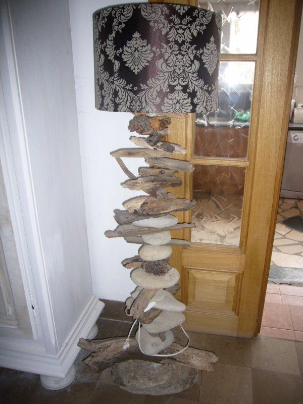Vente objet en bois flotte et galet relookage de vieux for Decoration bois flotte galet