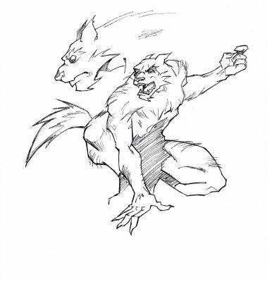 Loup garou mes dessins - Dessin loup garou ...