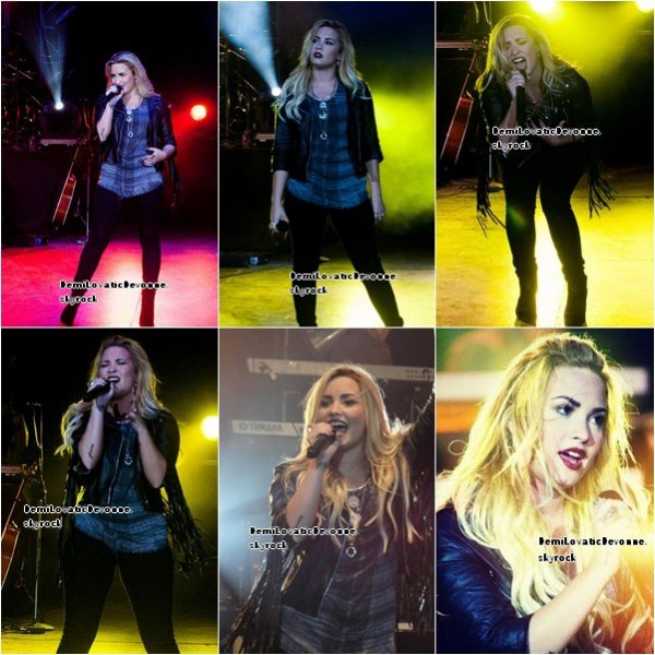 30/08/12 : Demi  a continuer sont summer tour , cette fois si a Monroe , voici les photo du concert et du meet&great