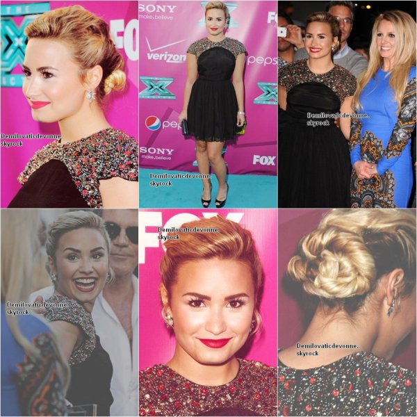 Demi a assist� a la premier de la deuxi�me saison de X FACTOR le 11 septembre a  Handprint au th��tre chinois de Grauman � Hollywood en Californie