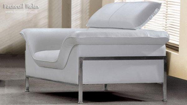 Fauteuil relax design en cuir - Fauteuil relaxant design ...