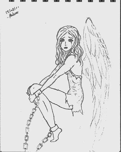 Dessin d 39 ange blog de tristenemodamour - Dessin d ange ...