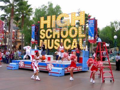 high school musical a disneyland!!!!!