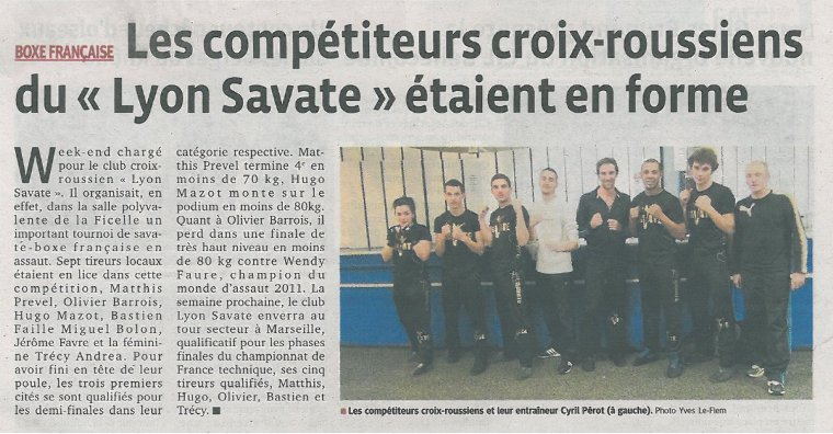 Article du Progr�s sur le Tournoi - 04/03/13 + PHOTOS
