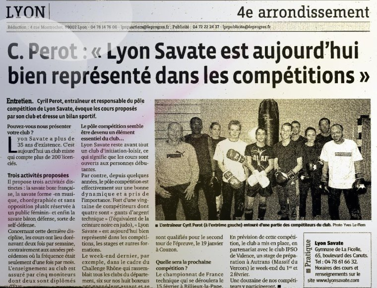 Article du Progr�s - 14/01/14
